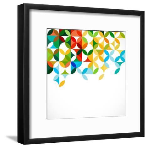 Abstract Colorful Geometric or Floral Pattern Concept Template, Vector Illustration- Studiojumpee-Framed Art Print