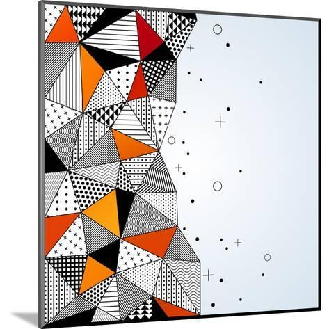 Triangle Pattern Background. Vector Illustration with Space for Text. Contrasting Fashionable Polyg-kotoffei-Mounted Art Print