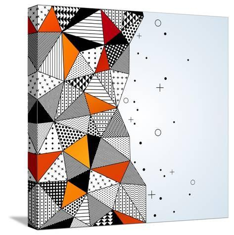 Triangle Pattern Background. Vector Illustration with Space for Text. Contrasting Fashionable Polyg-kotoffei-Stretched Canvas Print