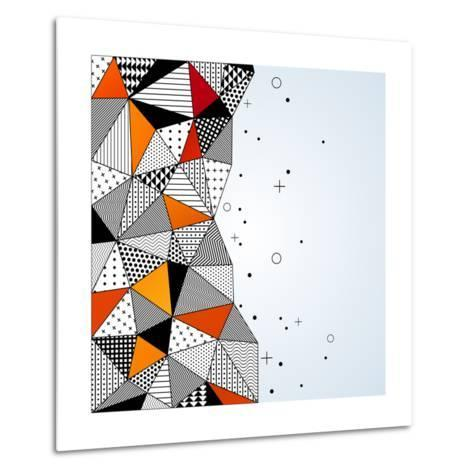 Triangle Pattern Background. Vector Illustration with Space for Text. Contrasting Fashionable Polyg-kotoffei-Metal Print