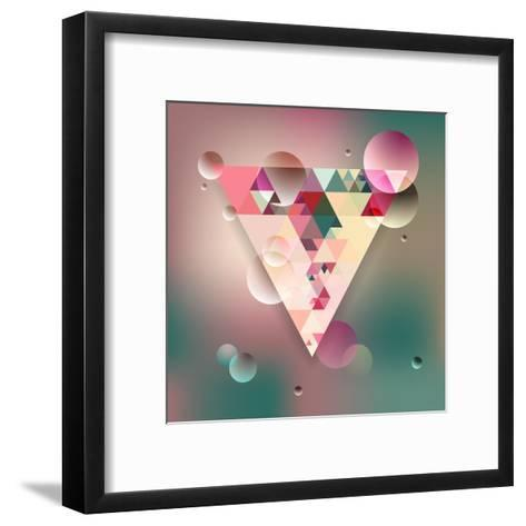 Abstract Geometric Background with Triangles. Vector Illustration Eps10.-Olha Kostiuk-Framed Art Print