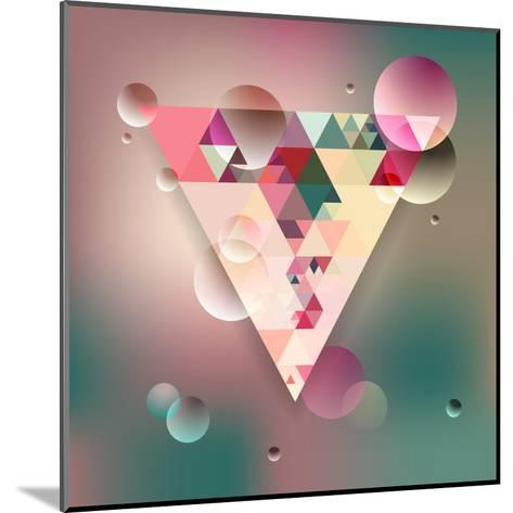 Abstract Geometric Background with Triangles. Vector Illustration Eps10.-Olha Kostiuk-Mounted Art Print