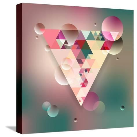 Abstract Geometric Background with Triangles. Vector Illustration Eps10.-Olha Kostiuk-Stretched Canvas Print