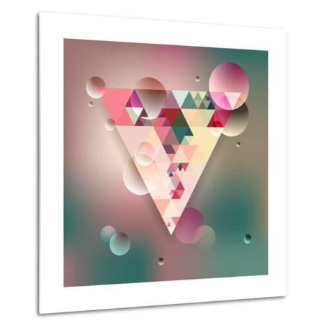 Abstract Geometric Background with Triangles. Vector Illustration Eps10.-Olha Kostiuk-Metal Print