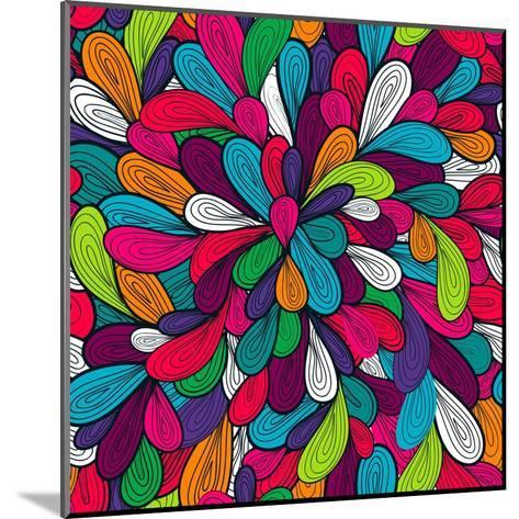 Colorful Abstract Texture-Lola Tsvetaeva-Mounted Art Print