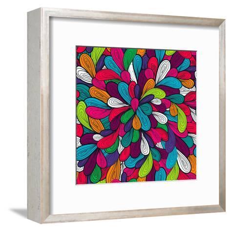 Colorful Abstract Texture-Lola Tsvetaeva-Framed Art Print