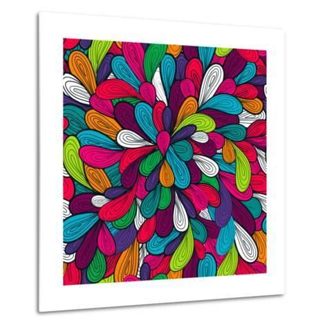 Colorful Abstract Texture-Lola Tsvetaeva-Metal Print