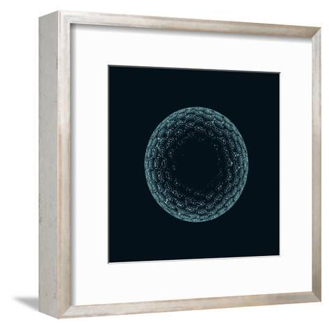 Golf Ball X-Ray Blue Transparent Isolated on Black-X-RAY pictures-Framed Art Print