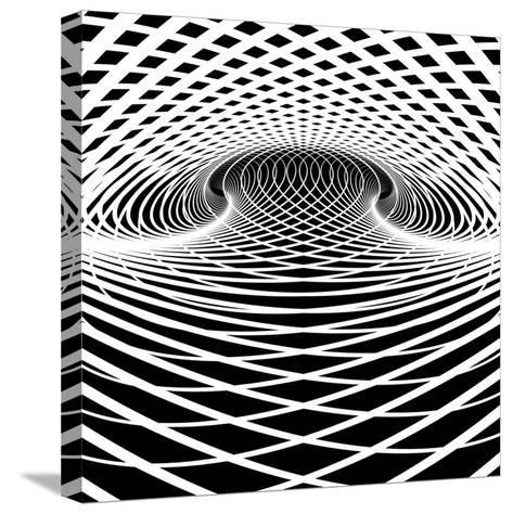 Optical Illusion Vector Background. Op Art.-troyka-Stretched Canvas Print