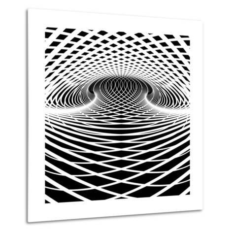 Optical Illusion Vector Background. Op Art.-troyka-Metal Print