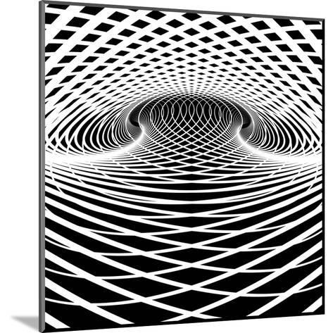 Optical Illusion Vector Background. Op Art.-troyka-Mounted Art Print