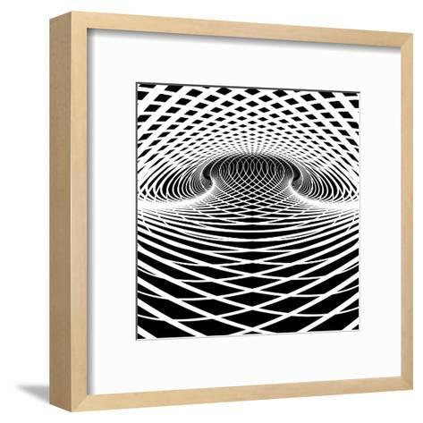 Optical Illusion Vector Background. Op Art.-troyka-Framed Art Print