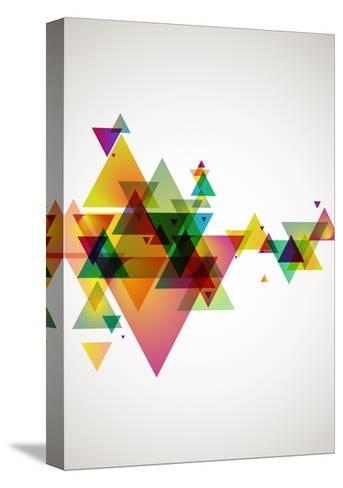 Abstract Colored Background.-theromb-Stretched Canvas Print