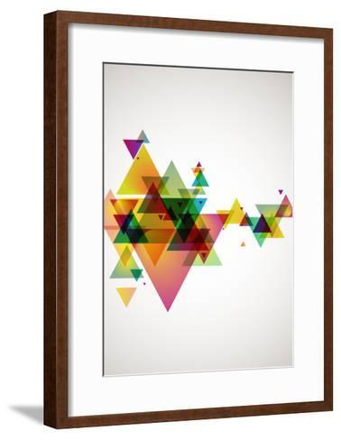 Abstract Colored Background.-theromb-Framed Art Print