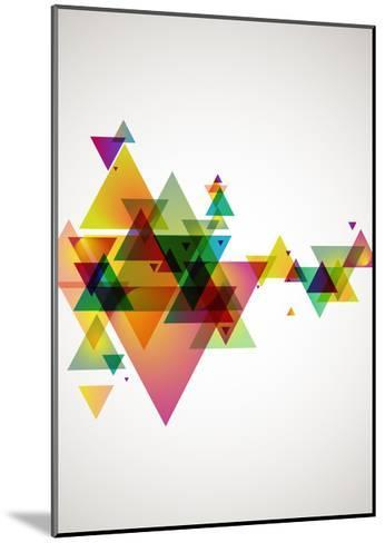 Abstract Colored Background.-theromb-Mounted Art Print
