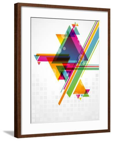 Abstract Geometric Shapes with Transparencies. AI 10.-artplay-Framed Art Print