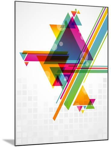 Abstract Geometric Shapes with Transparencies. AI 10.-artplay-Mounted Art Print