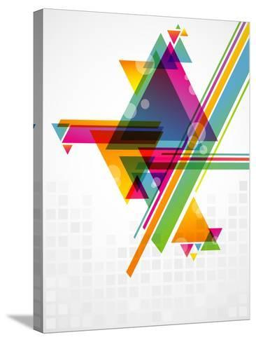 Abstract Geometric Shapes with Transparencies. AI 10.-artplay-Stretched Canvas Print