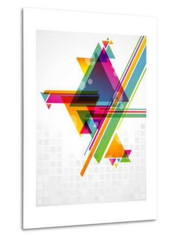 Abstract Geometric Shapes with Transparencies. AI 10.-artplay-Metal Print