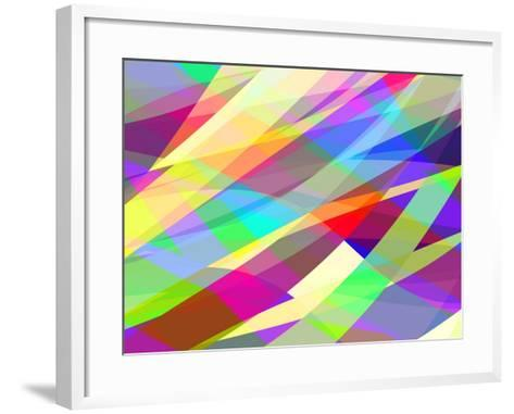 Abstract Editable Vector Background of Many Colors-Robert Adrian Hillman-Framed Art Print