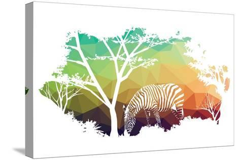Animal of Wildlife (Zebra)- ananaline-Stretched Canvas Print