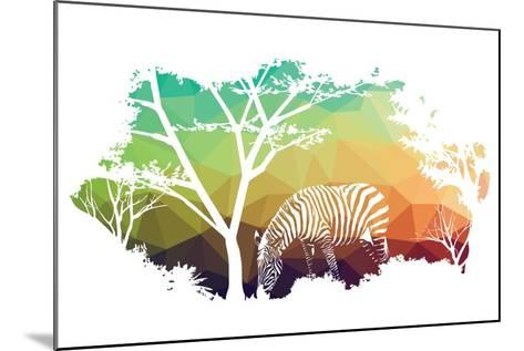 Animal of Wildlife (Zebra)- ananaline-Mounted Art Print
