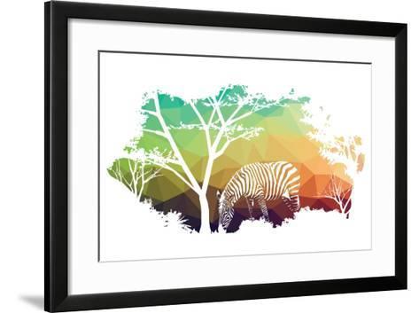 Animal of Wildlife (Zebra)- ananaline-Framed Art Print