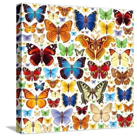 Butterfly Pattern-OlgaChernyak-Stretched Canvas Print