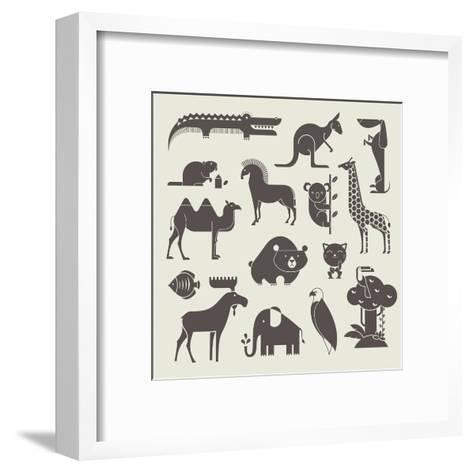 Vector Animals Set-vector pro-Framed Art Print