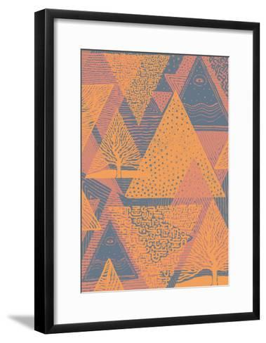 Cover Design with Triangles. Vector Illustration.-jumpingsack-Framed Art Print
