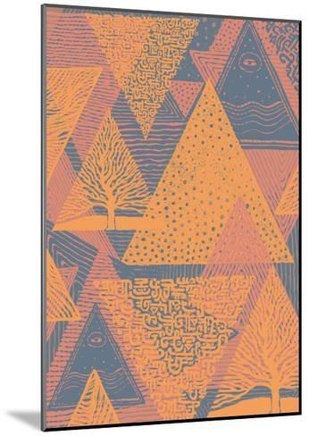 Cover Design with Triangles. Vector Illustration.-jumpingsack-Mounted Art Print