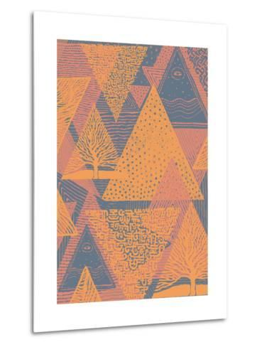 Cover Design with Triangles. Vector Illustration.-jumpingsack-Metal Print