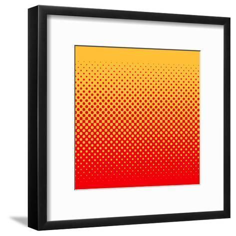 Halftone Vector Illustration-Murat Baysan-Framed Art Print