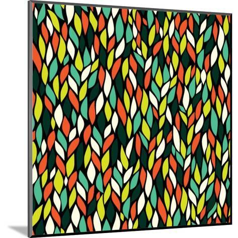 Vector Seamless Abstract Hand-Drawn Pattern with Leaf-Markovka-Mounted Art Print