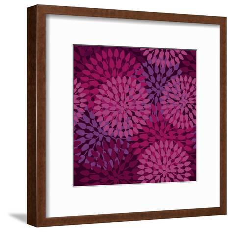 Abstract Flower Texture in Gentle Colors-Lola Tsvetaeva-Framed Art Print