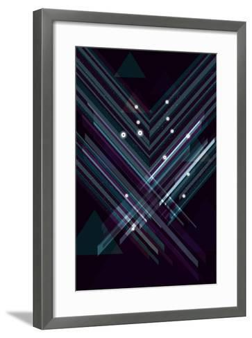 Shiny Triangle Background. Eps10 File with Transparency.- Transfuchsian-Framed Art Print