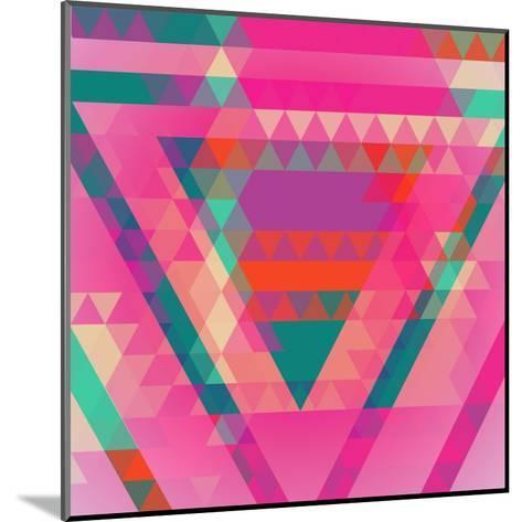 Geometric Colorful Abstract Background. Retro Design. Vector Illustration EPS 10.-Olha Kostiuk-Mounted Art Print