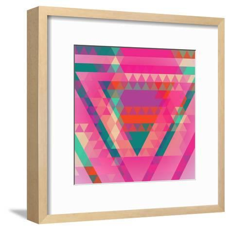 Geometric Colorful Abstract Background. Retro Design. Vector Illustration EPS 10.-Olha Kostiuk-Framed Art Print