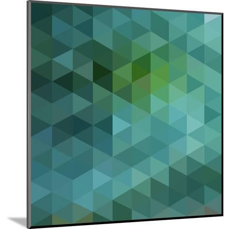 Colorful Triangles Background-Max Krasnov-Mounted Art Print