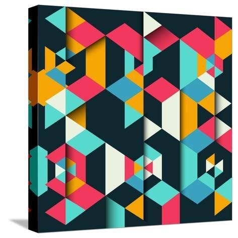 Abstract Geometric Background with a 3D Effect-kjpargeter-Stretched Canvas Print