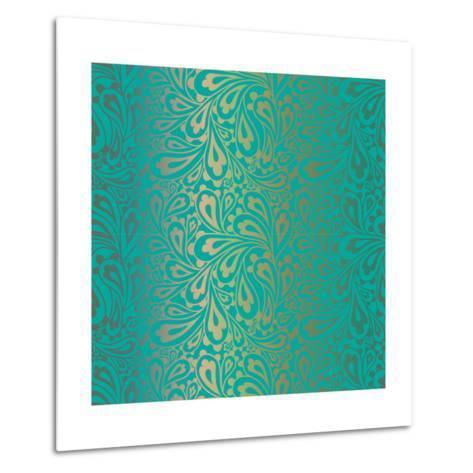 Doodle Paisley Seamless Pattern.-Fears-Metal Print