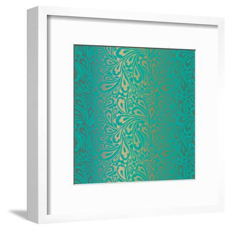 Doodle Paisley Seamless Pattern.-Fears-Framed Art Print