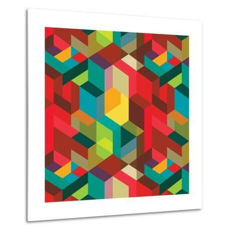 Decorative Geometric and Abstract Elements-emirilen-Metal Print