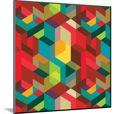 Decorative Geometric and Abstract Elements-emirilen-Mounted Art Print