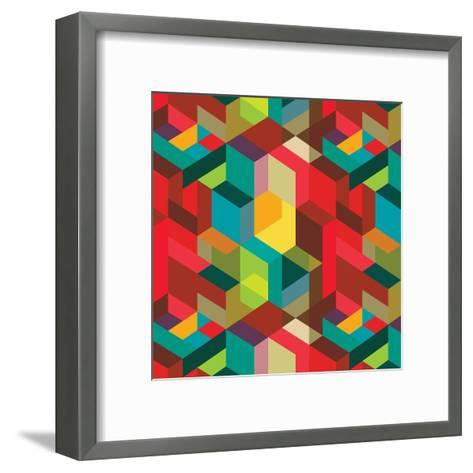 Decorative Geometric and Abstract Elements-emirilen-Framed Art Print