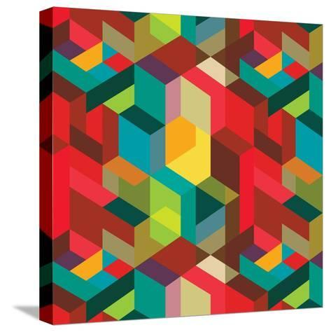 Decorative Geometric and Abstract Elements-emirilen-Stretched Canvas Print