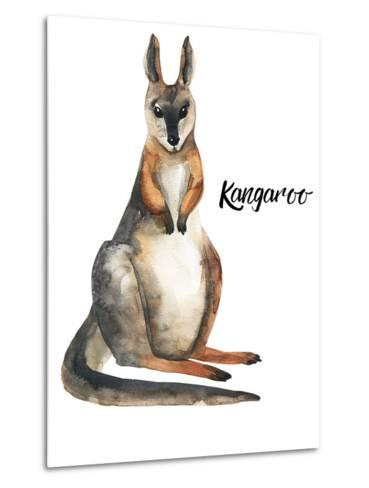 Australian animals watercolor illustration hand drawn wildlife isolated on a white background-Kat_Branch-Metal Print