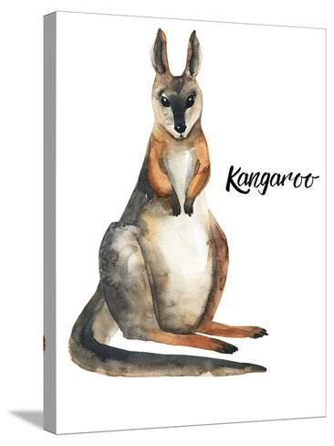 Australian animals watercolor illustration hand drawn wildlife isolated on a white background-Kat_Branch-Stretched Canvas Print