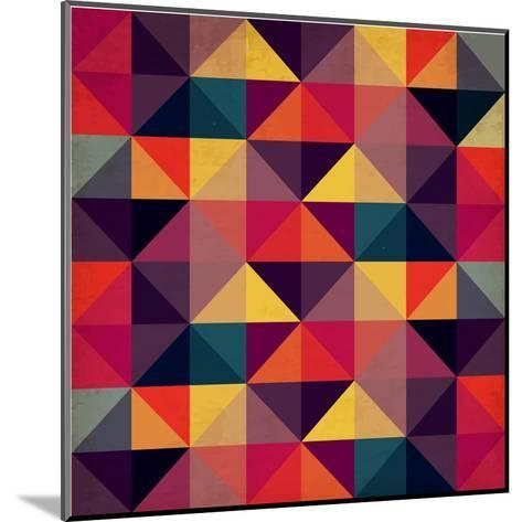 Grunge Colorful Seamless Pattern with Triangles- Artgraphixel-Mounted Art Print