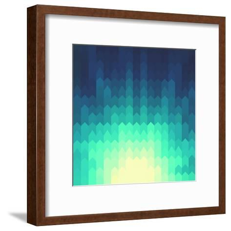 Shiny Background with Geometric Pattern- ILeysen-Framed Art Print